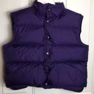 LL Bean | girl's down vest kid's winter coat 6 XS